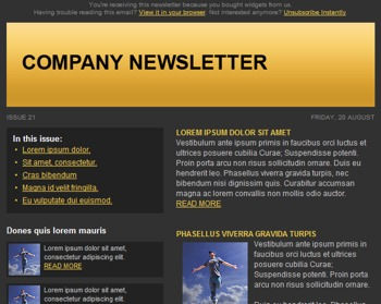 Free newsletter template 1
