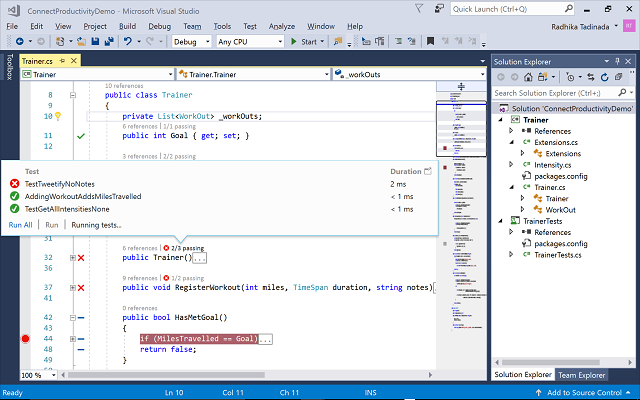 Visual Studio 2017 editor