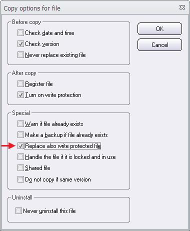 The 'Copy Options' dialog box (2)