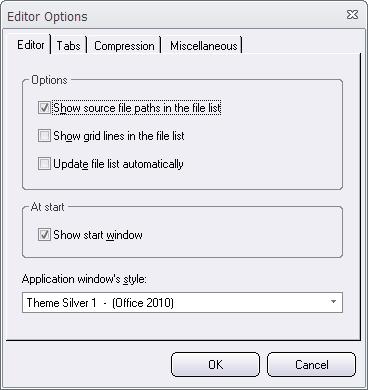 Editor Options