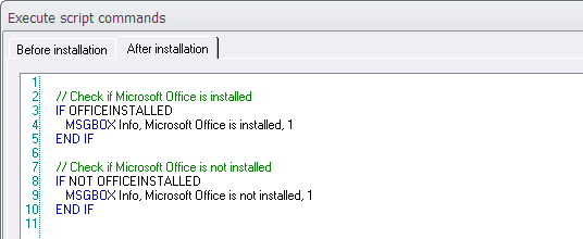 The 'IF OFFICEINSTALLED' condition