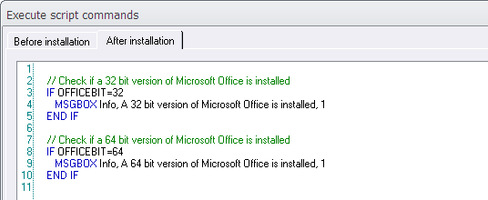 The 'IF OFFICEBIT=' condition