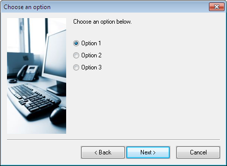 The 'User Options' setup dialog box