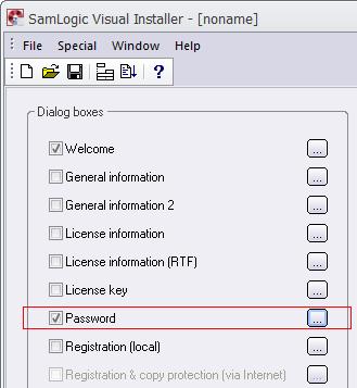 The Password option